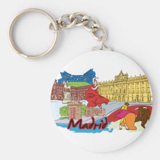 Madrid, cidade mundialmente famosa da espanha chaveiro