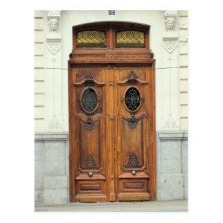 Madrid, portas da espanha - cartão cartão postal