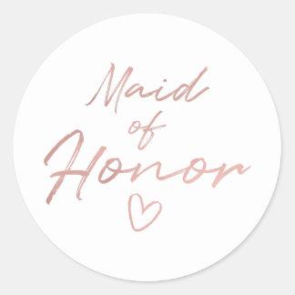 Madrinha de casamento - etiqueta cor-de-rosa da