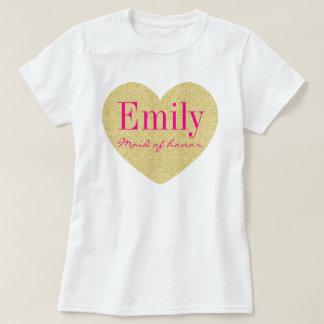 Madrinha de casamento personalizada do brilho camiseta