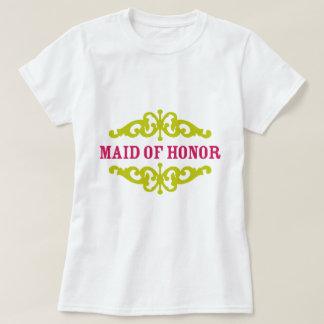 Madrinha de casamento (rosa & Chartreuse quentes) T-shirts