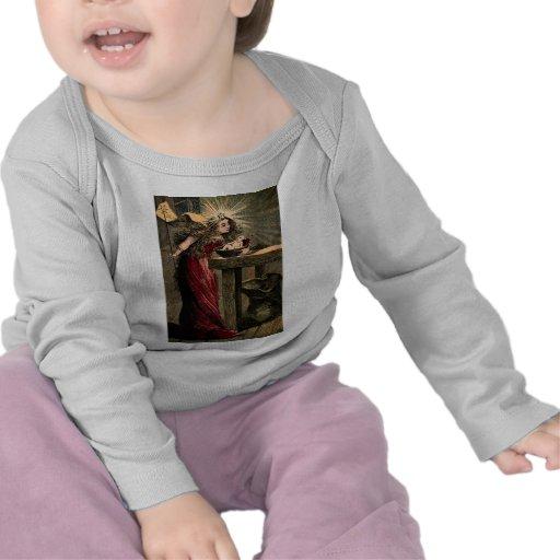 Madrinha feericamente do vintage camiseta