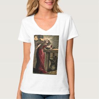 Madrinha feericamente do vintage t-shirts