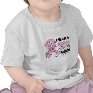Madrinha - fita cor-de-rosa do cancro da mama tshirt