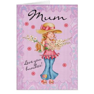 Mãe, amor do cartão do dia das mães você grupos!
