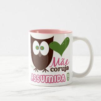 Mãe Coruja Assumida Caneca De Café Em Dois Tons
