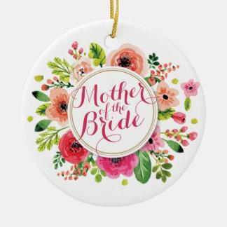 Mãe da aguarela da noiva que Wedding o ornamento