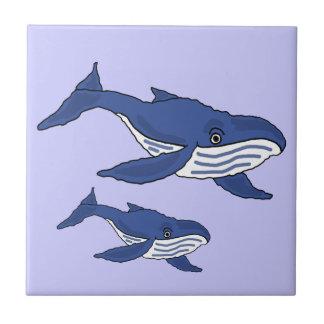 Mãe da baleia AW azul e azulejo do bebê