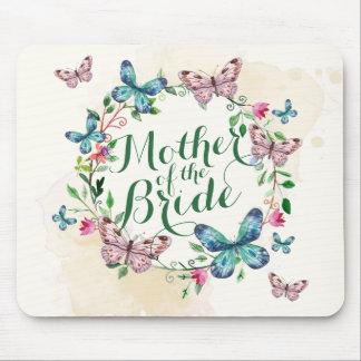 Mãe da grinalda | Mousepad da borboleta da noiva