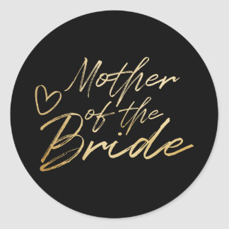 Mãe da noiva - o falso do ouro foil a etiqueta