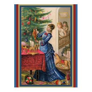 Mãe de comércio do cartão do Victorian que decora