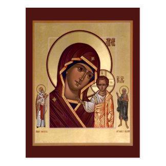 Mãe de Kazan do cartão da oração do deus