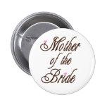 Mãe de marrons elegantes da noiva boton