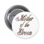 Mãe de marrons elegantes do noivo botons