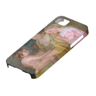 Mãe de Mary Cassatt- e duas crianças Capa Para iPhone 5