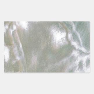 Mãe de Pearl White Adesivo Retangular