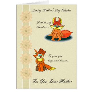 Mãe, desejos Loving do dia das mães Cartão Comemorativo