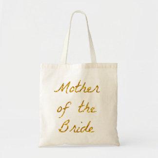 Mãe do bolsa do brilho do ouro da noiva
