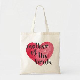 Mãe do bolsa do coração da noiva