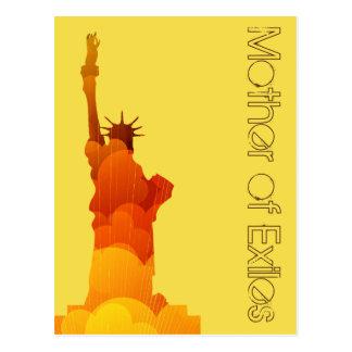 Mãe do cartão amarelo retro dos exilados