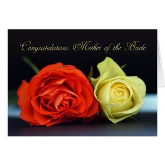 Mãe do cartão da noiva - felicitações