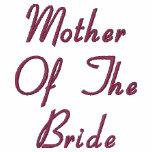 Mãe do Hoodie do fecho de correr da noiva Moleton Bordado Com Capuz
