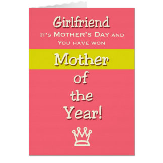 Mãe do humor do namorada do dia das mães do ano cartão comemorativo