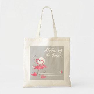 Mãe do lado do amor do flamingo do bolsa do
