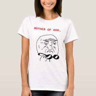 mãe do meme do deus camiseta