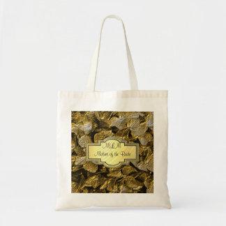 mãe do monograma do Hydrangea do ouro 3D do saco d Bolsas De Lona