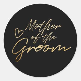 Mãe do noivo - o falso do ouro foil a etiqueta