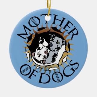 Mãe do ornamento cerâmico dos cães