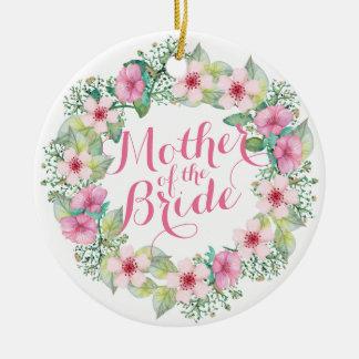 Mãe do ornamento do casamento da aguarela da noiva