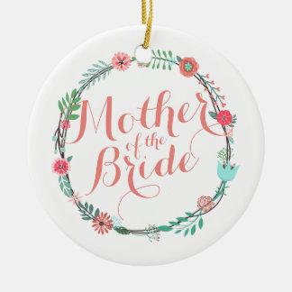 Mãe do ornamento elegante do casamento | da noiva