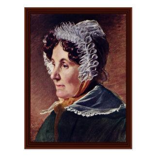 Mãe do pintor por Friedrich Von Amerling Cartao Postal