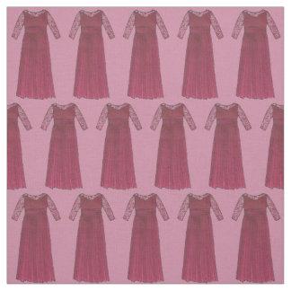 Mãe do tecido do casamento do vestido de Borgonha
