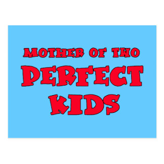 Mãe do Tshirt bonito do dia da mãe de dois miúdos Cartão Postal