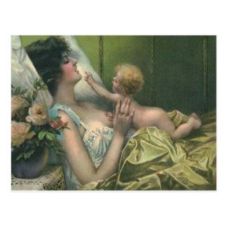 Mãe do Victorian & cartão novo do dia das mães do  Cartao Postal