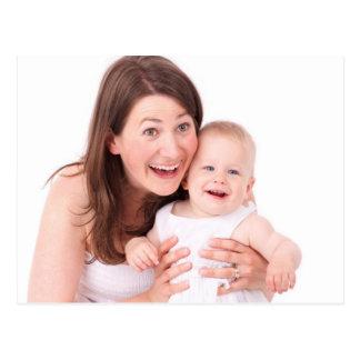 Mãe e bebê cartão postal