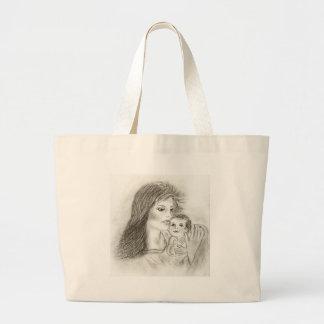 Mãe e criança bolsa de lona