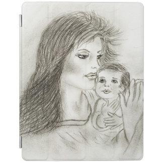 Mãe e criança capa smart para iPad
