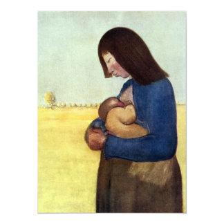 Mãe e criança de maternidade convite 13.97 x 19.05cm