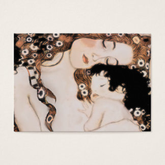 Mãe e criança Gustavo Klimt Cartão De Visitas