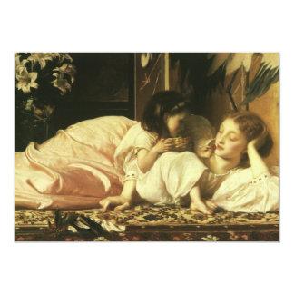 Mãe e criança, Leighton, arte do Victorian do Convite Personalizados