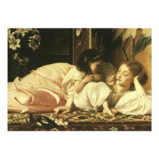 Mãe e criança Leighton arte do Victorian do vint Convite Personalizados