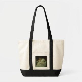 Mãe e criança (óleo em canvas) bolsas para compras