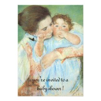 Mãe e criança por Cassatt chá de fraldas do