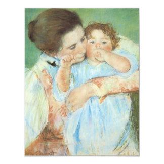 Mãe e criança por Cassatt, impressionismo do Convites