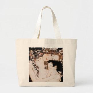 Mãe e criança por Gustavo Klimt Sacola Tote Jumbo