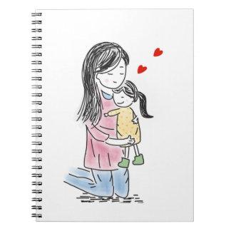 Mãe e filha caderno